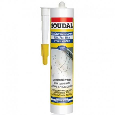 Soudal szaniter szilikon fehér 300ml (15) (033450)