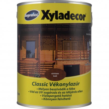 Supralux Xyladecor Classic Vékonylazúr Színtelen 5
